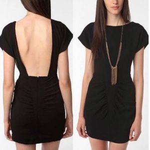 Silence + Noise Backless Black Crepe Dress 6